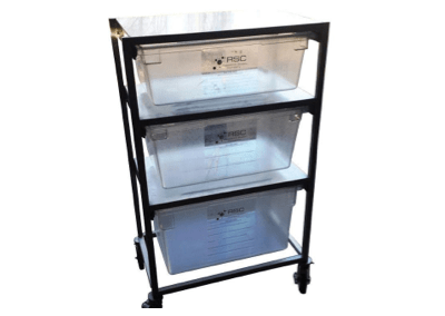 Mobile PPE Supply Cart