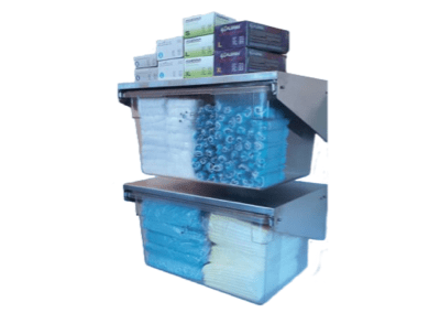 Wall-Mounted PPE Shelf-Drawer