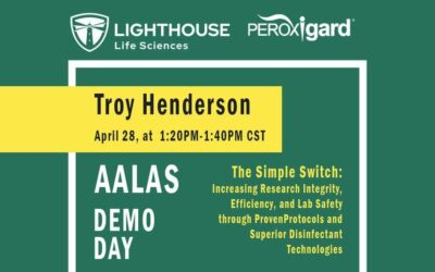 Join Lighthouse on April 28th at 1:20 PM (CST) for an AALAS Demo Day Presentation